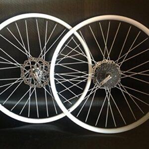 26inch-mountain-bike-wheels-quick-release-alloy-white-8-speed-shimano-cassette-0
