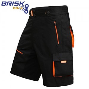 Brisk-MTB-shorts-Coolamax-Padded-detachable-Inner-Lining-Free-Style-Adult-Size-0