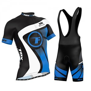FDX-Mens-Cycling-Jersey-Half-Sleeve-Racing-Team-Breathable-Biking-Top-Bicycle-Riding-Bib-shorts-set-0