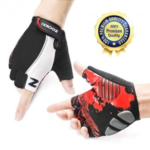 Zookki-Cycling-Gloves-Mountain-Bike-Gloves-Road-Racing-Bicycle-Gloves-Light-Silicone-Gel-Pad-Biking-Gloves-Half-Finger-Bicycling-Gloves-Riding-Gloves-MenWomen-Work-Gloves-0