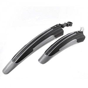 Bicycle-Bike-Mountain-Road-Front-Rear-Fender-Mudguard-Guard-Black-Gray-0