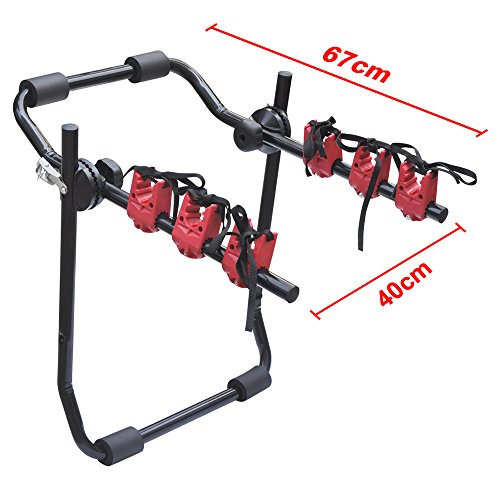 Car Bicycle Carrier Rack Universal Rear Mounted 3 Bicycle