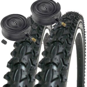 Coyote-Pro-TY2604-26-x-195-Mountain-Bike-Tyres-PAIR-2x-Schrader-Inner-Tubes-0