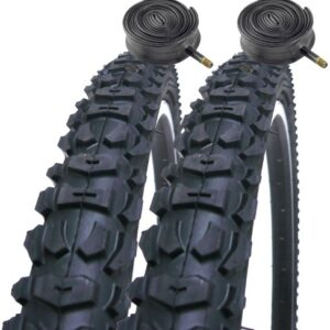 Coyote-Pro-TY265-26-x-20-Mountain-Bike-Tyres-Schrader-Inner-Tubes-Pair-0