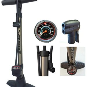 Vandorm-Legend-VII-Track-Pump-Bicycle-Cycle-Alloy-Floor-Track-Tyre-Inflator-SchraderPresta-valve-tube-Bike-Pump-with-Gauge-0