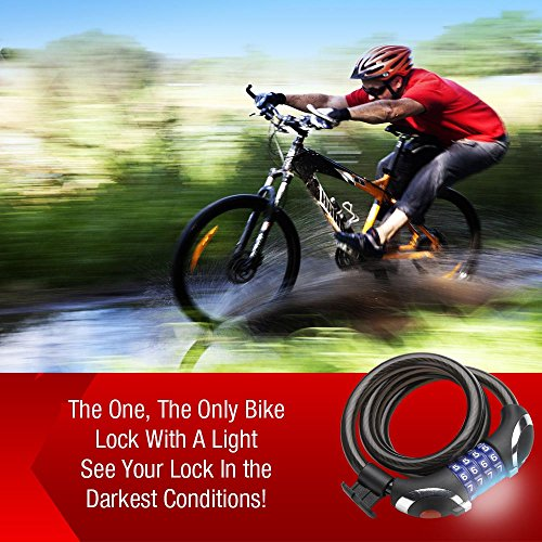 xtreme bright illumilock cable bike lock this cycle security cable is the ultimate in. Black Bedroom Furniture Sets. Home Design Ideas