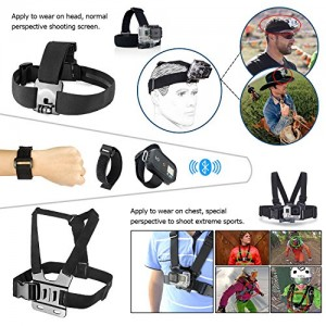 Zookki-40-in-1-Essential-Accessories-Bundle-Kit-for-Gopro-Hero-4-Black-Silver-Gopro-Hero-3-Black-Silver-Gopro-Hero-3-Black-Silver-Gopro-Hero-2-Black-Silver-Camera-Accessory-Kit-for-GoPro-4-3-3-2-1-Bla-0-0