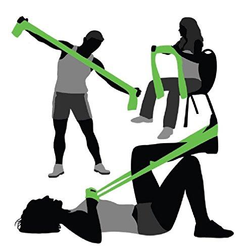 Exercise Bands Green: Midas Green Unisex Men Women Exercise Pilates Dyna Abs GYM