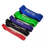 Resistance-Bands-FREETOO-Workout-Bands-Stretch-Exercise-Pull-up-Rubber-Bands-of-5-levels-for-Men-and-Women-Home-GymsYogaPilatesPhysical-TherapySingle-Unit-0-0