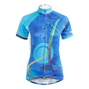 Cycling-Jersey-KMFEEL-Blue-Circle-Invisible-Zipper-Women-Short-Sleeve-Bicycle-Shirts-0