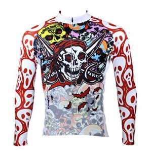 Cycling-Jersey-KMFEEL-Multi-Colorful-Skull-Men-Sports-Long-Sleeve-Top-0