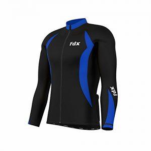 FDX-Mens-Cycling-Jersey-Full-sleeve-Winter-Thermal-Cold-Wear-Fleece-Top-Bike-racing-team-0