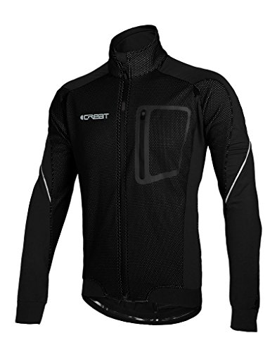 Icreat mens cycling jacket waterproof windproof breathable for Lightweight breathable long sleeve shirts