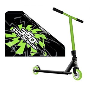360-PRO-STUNT-SCOOTER-BOYS-GREEN-REINFORCED-ALUMINIUM-DECK-GREAT-FOR-TRICKS-JUMPS-IDEAL-ALL-YEAR-ROUND-0