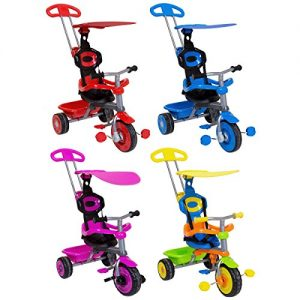 Childrens-Trike-With-Canopy-Safety-Guard-3-in-1-RedBluePinkMulticoloured-Available-0