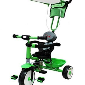 FoxHunter-Kids-Child-Children-Trike-Tricycle-3-Wheel-4-In-1-Bike-Ride-On-Parent-Handle-Green-New-0