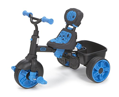 Little tikes 4 in 1 deluxe edition trike neon blue for Little tikes 2 in 1 buildin to learn motor workshop