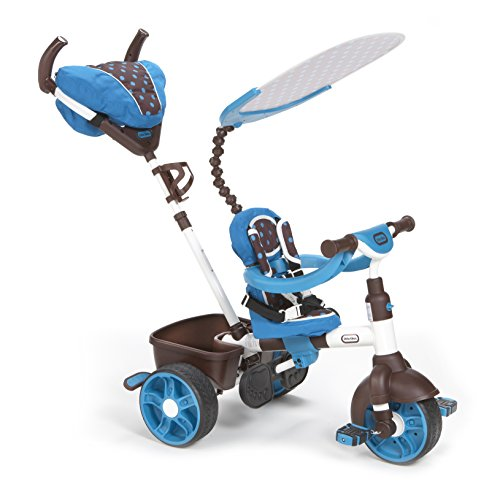 Little tikes 4 in 1 sports edition trike blue white for Little tikes 2 in 1 buildin to learn motor workshop
