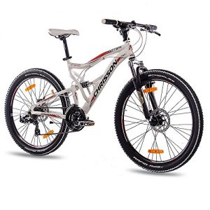 26-Inch-Alloy-MOUNTAIN-BIKE-BICYCLE-CHRISSON-EMOTER-Fully-UNISEX-with-21S-SHIMANO-TX55-2xDISC-white-matt-0