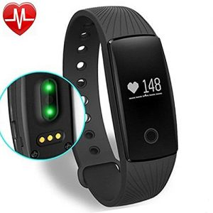 YAMAY-Fitness-Tracker-with-Heart-Rate-MonitorBluetooth-Smart-Wristband-Bracelet-Sport-Pedometer-Activity-Tracker-with-Heart-Rate-MonitorStep-TrackerCalorie-CounterSleep-Tracker-Compatible-with-iPhone--0