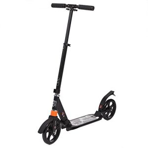 Ancheer-AdultTeen-Kick-Scooter-City-Urban-Commuter-Street-Push-Scooter-Easy-Folding-Dual-Suspension-Aluminum-Alloy-Frame-Adjustable-T-Handlebar-2-Rubber-Wheels-Supports-220lbs-Weight-0
