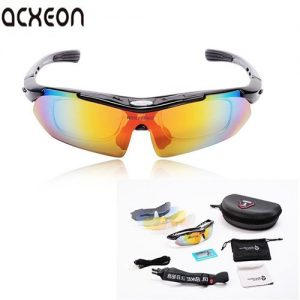 Acxeon-UV400-Cycling-Running-Sports-Sunglasses-with-5-Interchangeable-Lenses-and-Soft-Pouch-Protection-Outdoor-bicycle-Bike-Fishing-Driving-Sunglasses-Eyewear-Glasses-0