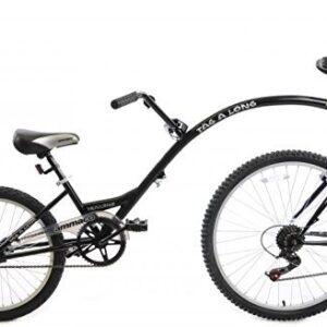 Ammaco-Tagalong-Towaway-Tandem-Kids-Folding-Trailer-Bike-20-Wheel-Black-5-8-Years-0