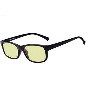 Duco-Blue-Light-Blocking-Gaming-Glasses-Ergonomic-Advanced-Computer-Glasses-Black-Rimmed-with-Amber-Lenses-8016-0