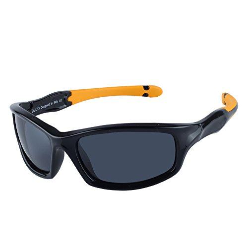 d3fd0578b88 Duco Kids Sports Style Polarized Sunglasses Rubber Flexible Frame ...