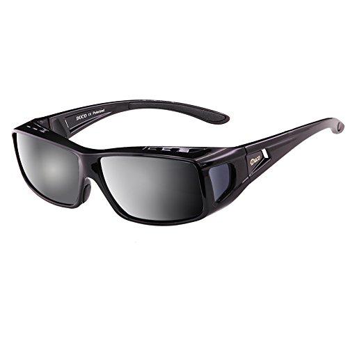 cd74e1918fe0d Duco Unisex Wear Over Prescription Glasses Rx Glasses Polarized Sunglasses  8955 Black