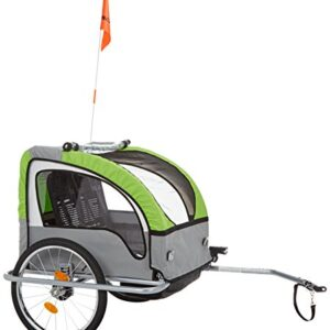 Fischer-86388-Childrens-Bicycle-Trailer-with-Suspension-TVGS-Tested-GreenCharcoal-0