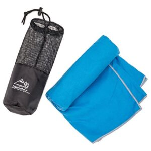 Microfiber-Trek-Towel-Sky-Blue-with-Carry-Case-Antibacterial-Absorbs-6x-Its-own-weight-ideal-for-camping-trekking-gym-running-very-lightweight-0