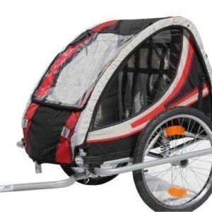 Red-Loon-RB10003-Bike-Kids-Trailer-Bicycle-Trailer-with-suspension-for-up-to-2-Children-Certified-TV-GS-0