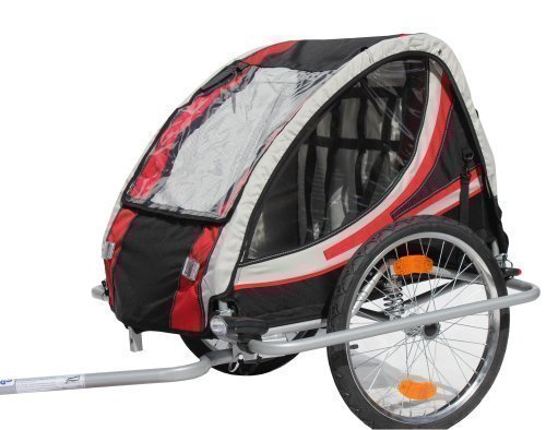 red loon rb10003 bike kids trailer bicycle trailer with suspension for up to 2 children. Black Bedroom Furniture Sets. Home Design Ideas