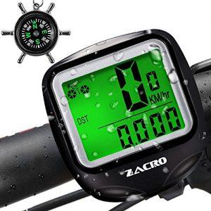 Zacro-Bike-ComputerOriginal-Wireless-Bicycle-Speedometer-with-Compass-Key-RingMulti-FunctionBike-Odometer-Cycling-0
