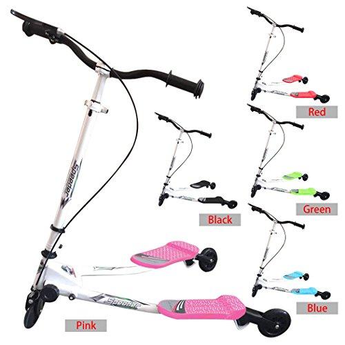 busyall mini kids 3 wheel tri flicker folding swing scissor push scooter. Black Bedroom Furniture Sets. Home Design Ideas