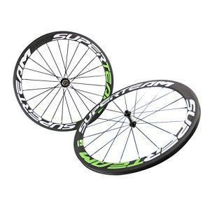 FASTEAM-50mm-Clincher-Wheels-Glossy-Carbon-Road-Bike-Wheelset-Rims-for-700C-Bicycle-Wheels-Rim-Powerway-R13-Hub-0
