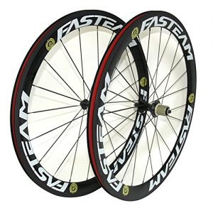 FASTEAM-700C-50mm-Clincher-Light-Carbon-Wheels-23mm-Width-Road-Bike-Cycling-Wheelset-R13-0